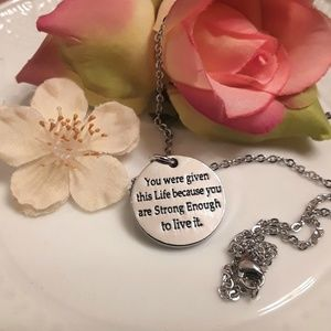 Jewelry - NEW Stainless Steel Motivational Necklace